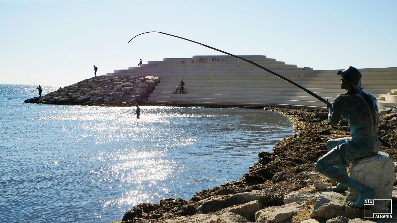 Sphinx, Vollga Promenade, Durrës, photo by IntoAlbania.