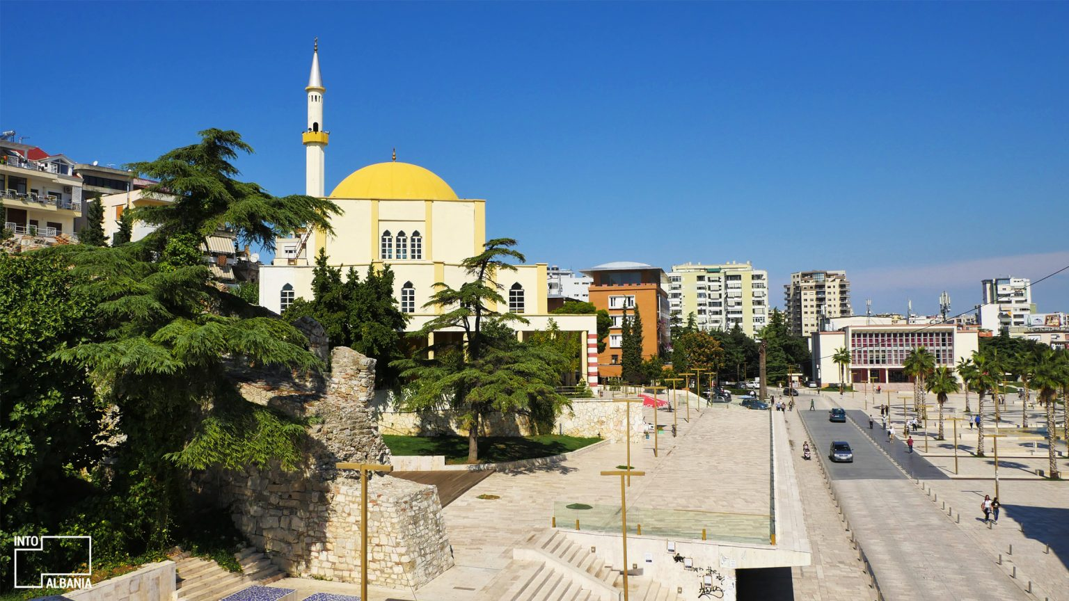 The Grand Mosque at the Illyria Square in Durrës, photo by IntoAlbania.