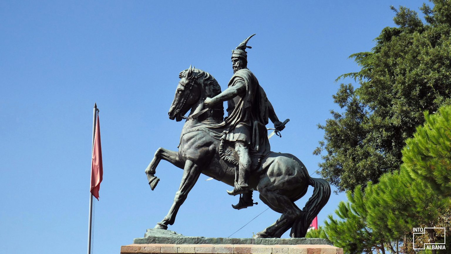 Skanderbeg Monument, Kruja, photo by IntoAlbania