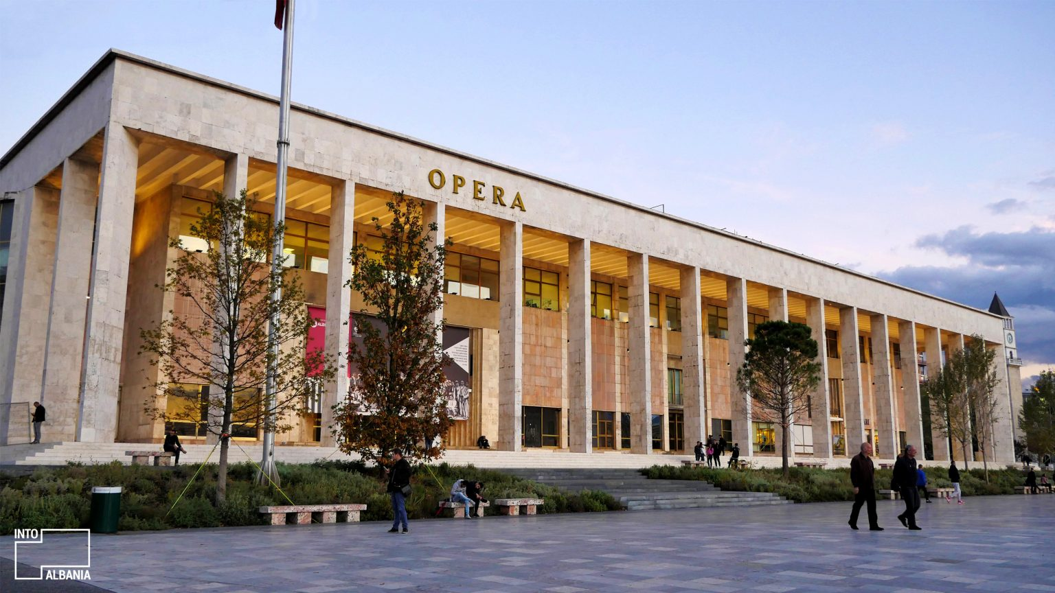 The Opera House in Skanderbeg Square Tirana