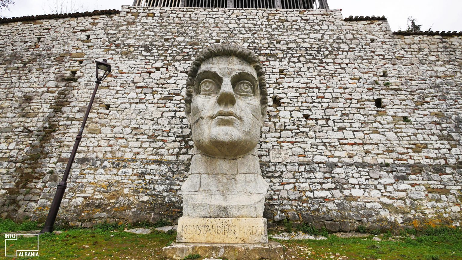 Statue of Emperor Constantine in Berat Castle. Photo by IntoAlbania