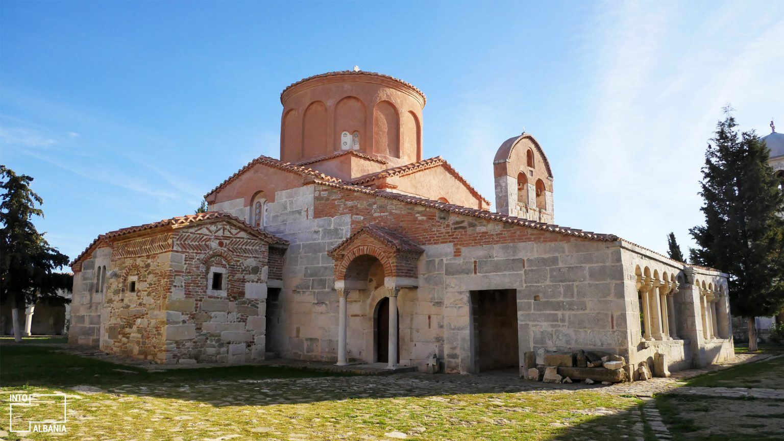 Church of St. Mary, Archeological Park of Apollonia, Fier, photo by IntoAlbania.
