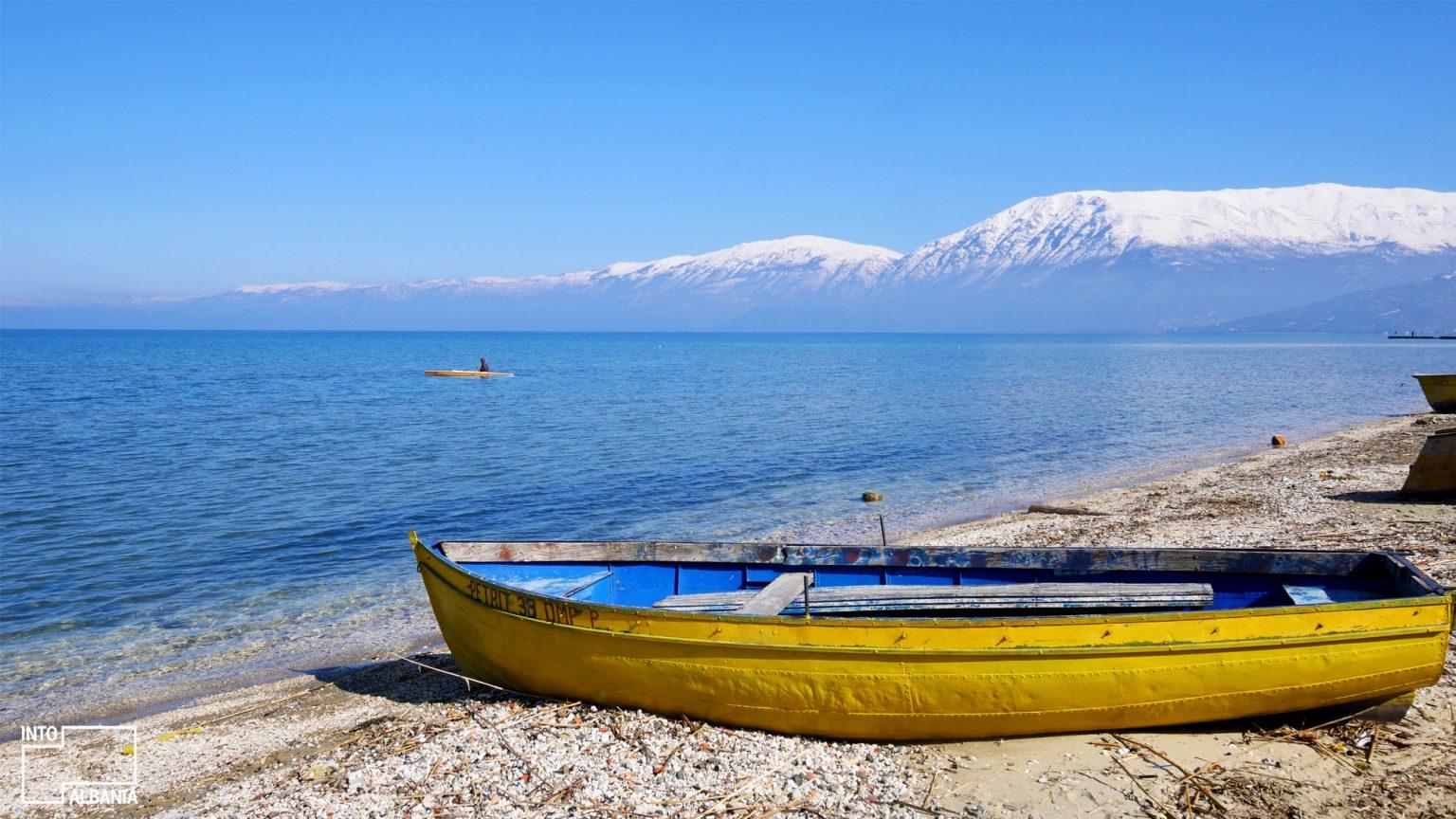 Lake of Pogradec, photo by IntoAlbania.