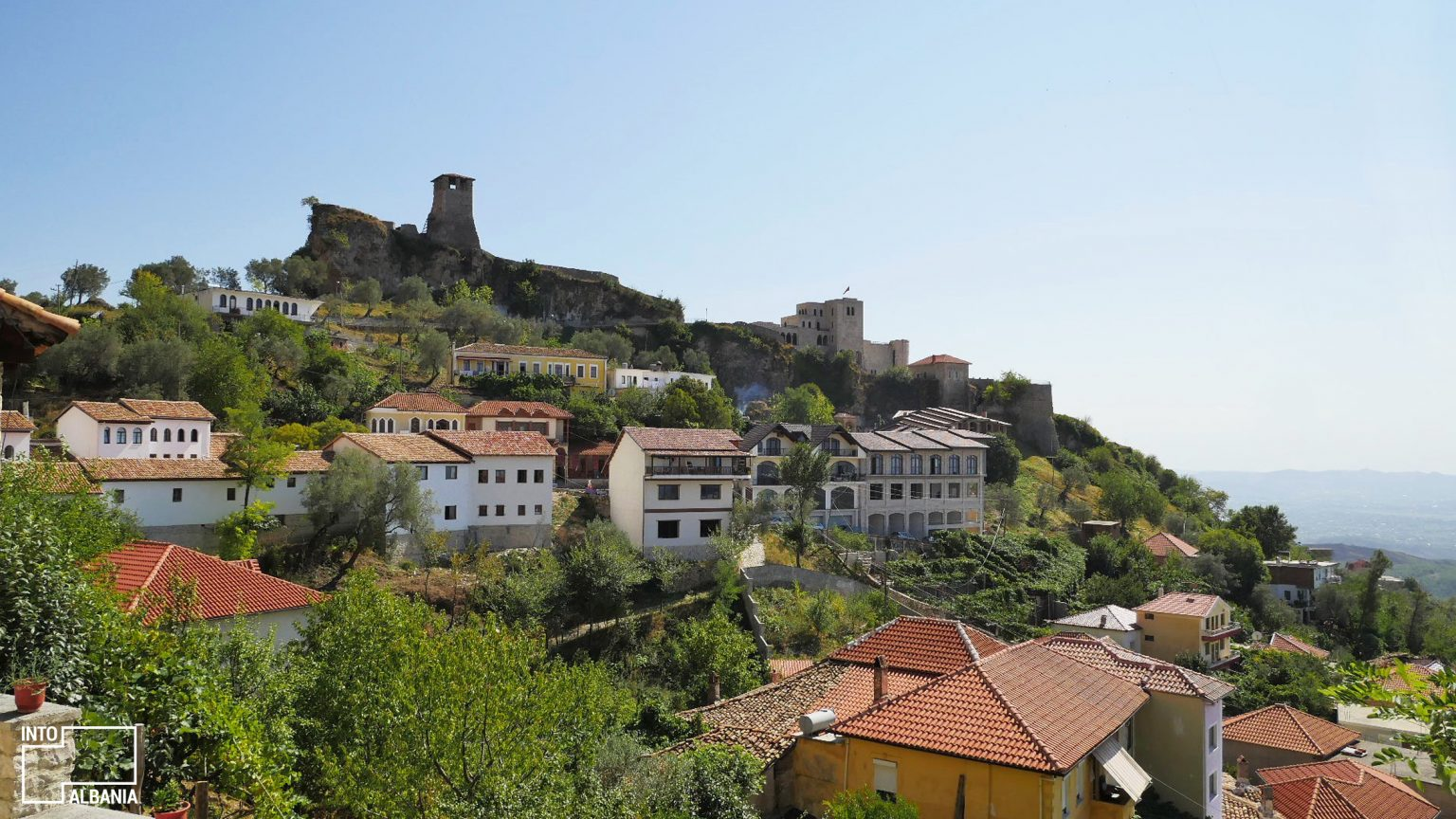 Castle view from the city of Kruja, photo by IntoAlbania