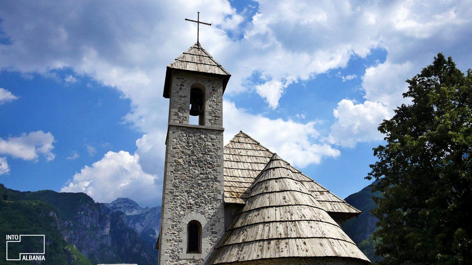 Church of Theth, Shkodra, photo by IntoAlbania.