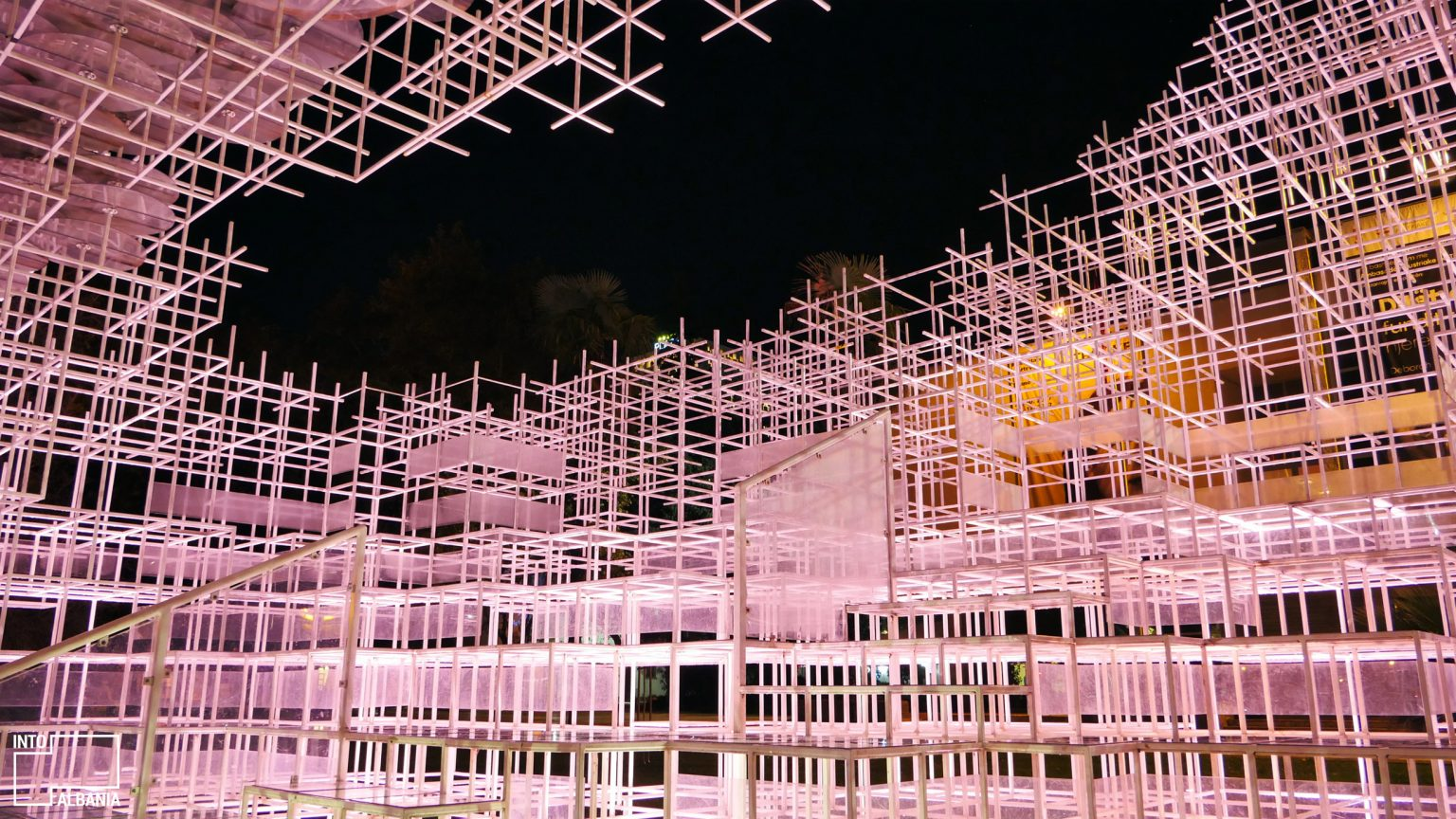 "Sou Fujimoto's ""Cloud"", Tirana, photo by IntoAlbania"