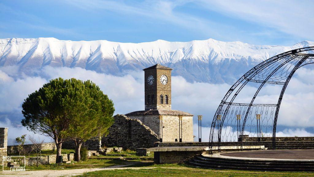 At the top of Gjirokastra Castle, Gjirokastra, photo by IntoAlbania.