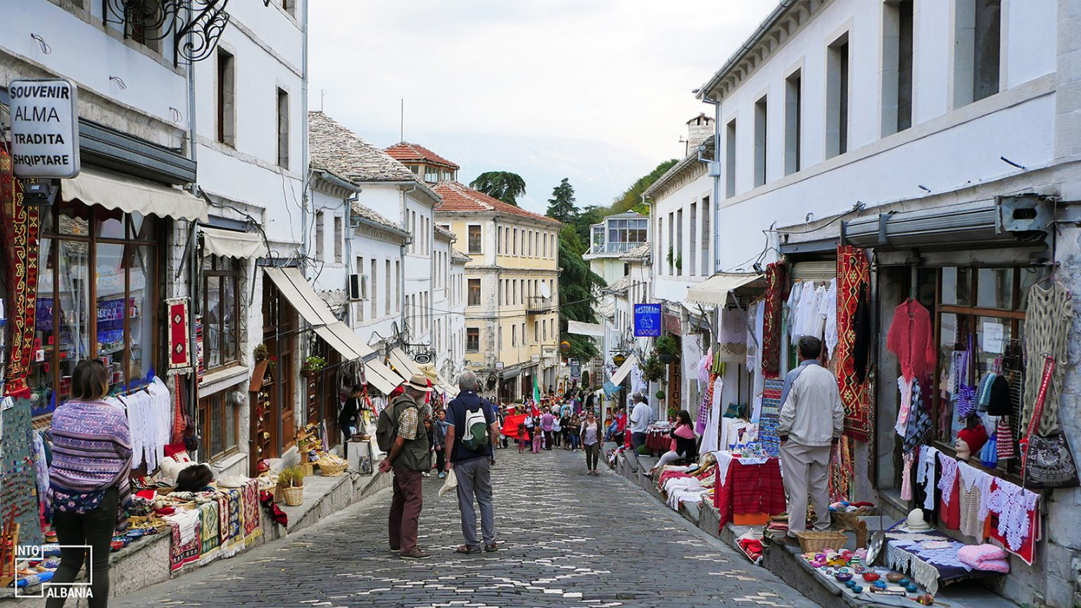 Gjirokastra Bazaar, photo by IntoAlbania