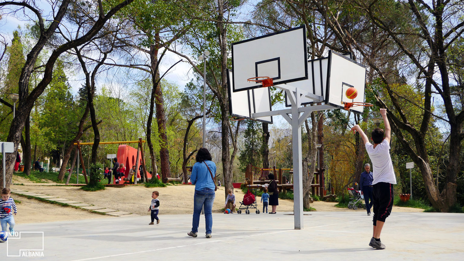 Playground at the Grand Park of Tirana, photo by IntoAlbania