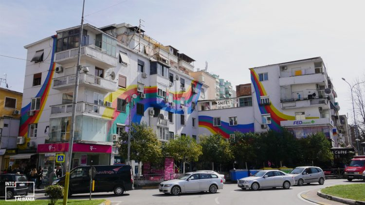 "Tirana, ""Wilson Square"", Colorful Buildings"
