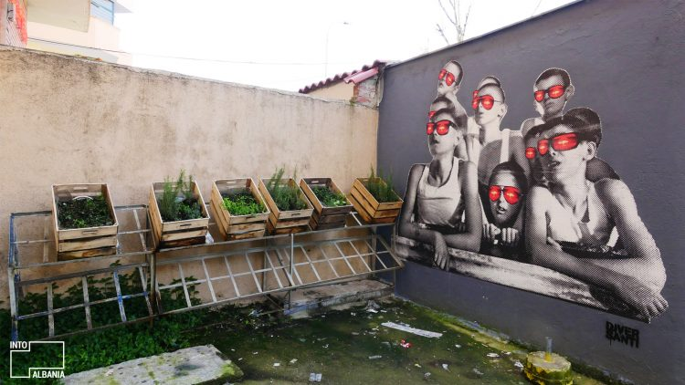 "At ""Radio Bar"", Tirana, Street Art, Graffiti"