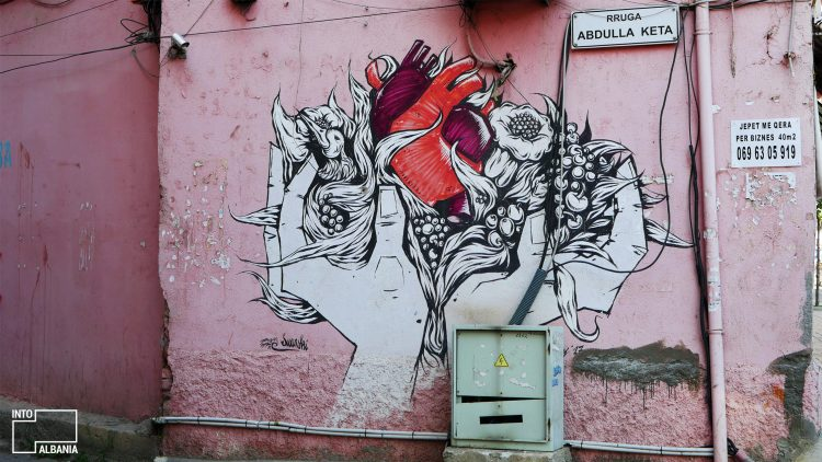 "Tirana, near ""Selvia"", Street Art, Graffiti"