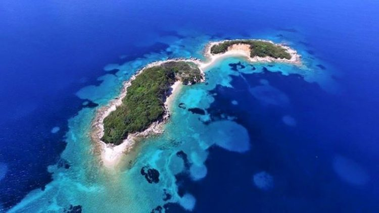 The Twin Islands of Ksamil