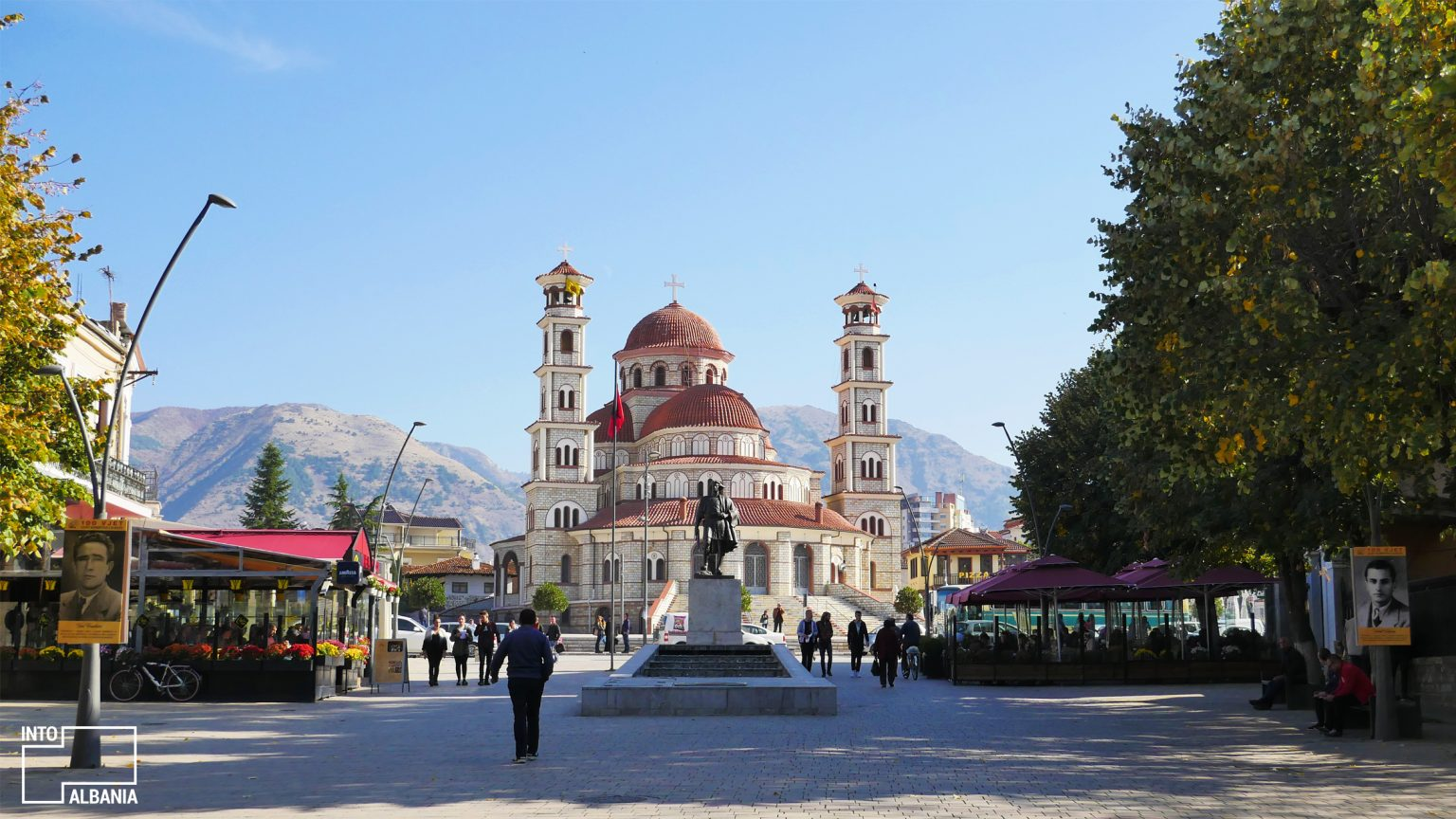 Korça Promenade, photo by IntoAlbania