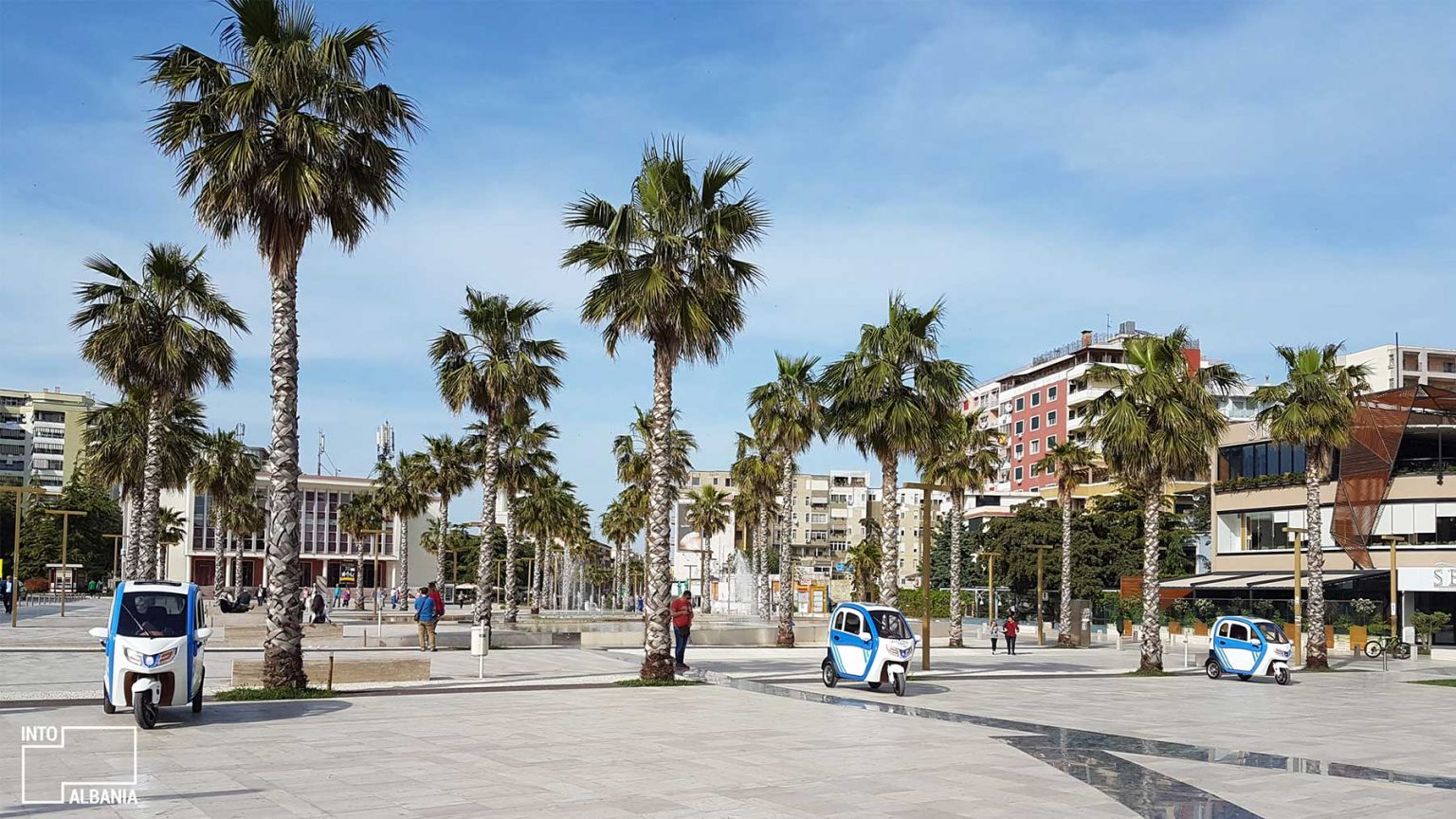Illyria Square in Durrës, photo by IntoAlbania.