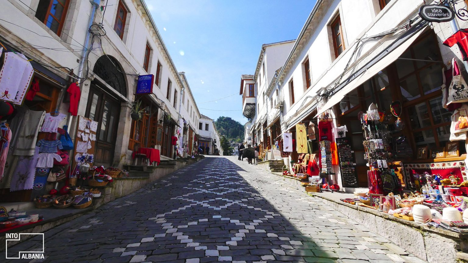 Gjirokastra Bazaar, photo by IntoAlbania.