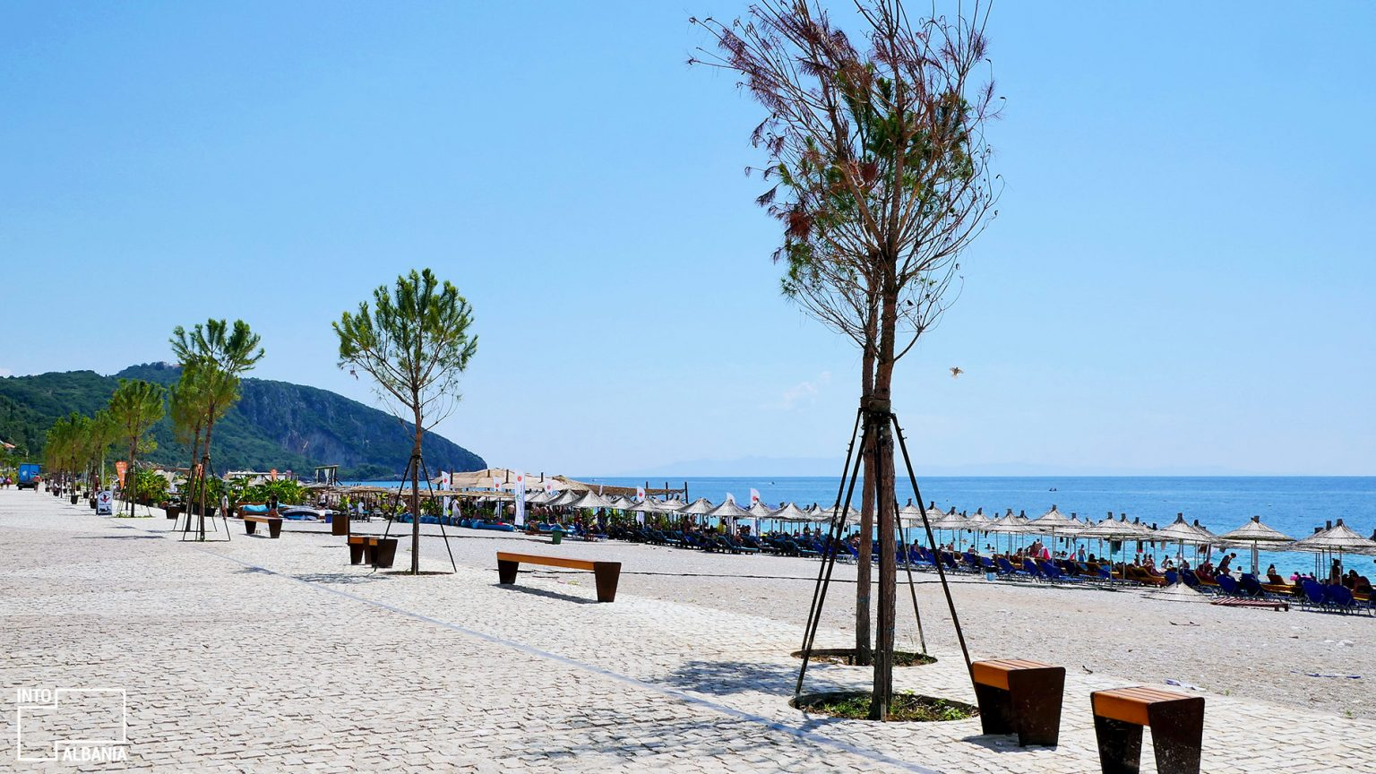 Dhërmi beach, Vlora, photo by IntoAlbania