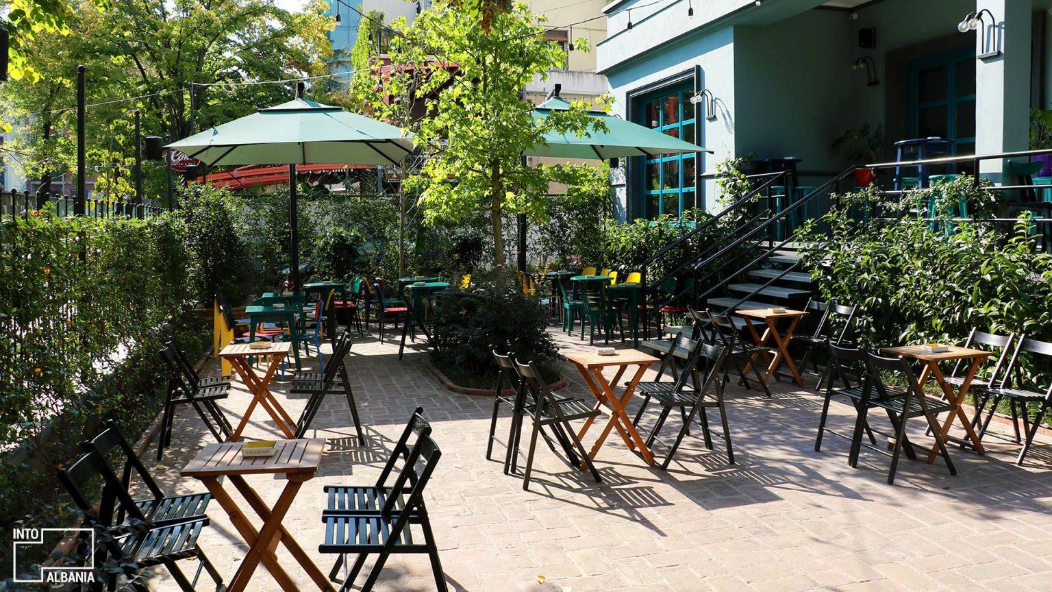 Kino bar veranda, photo by IntoAlbania.
