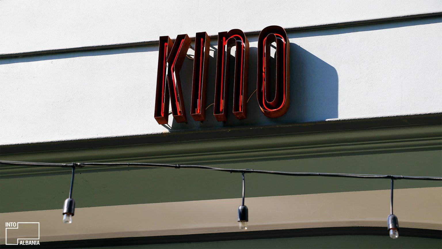 Kino bar entrance, photo by IntoAlbania.