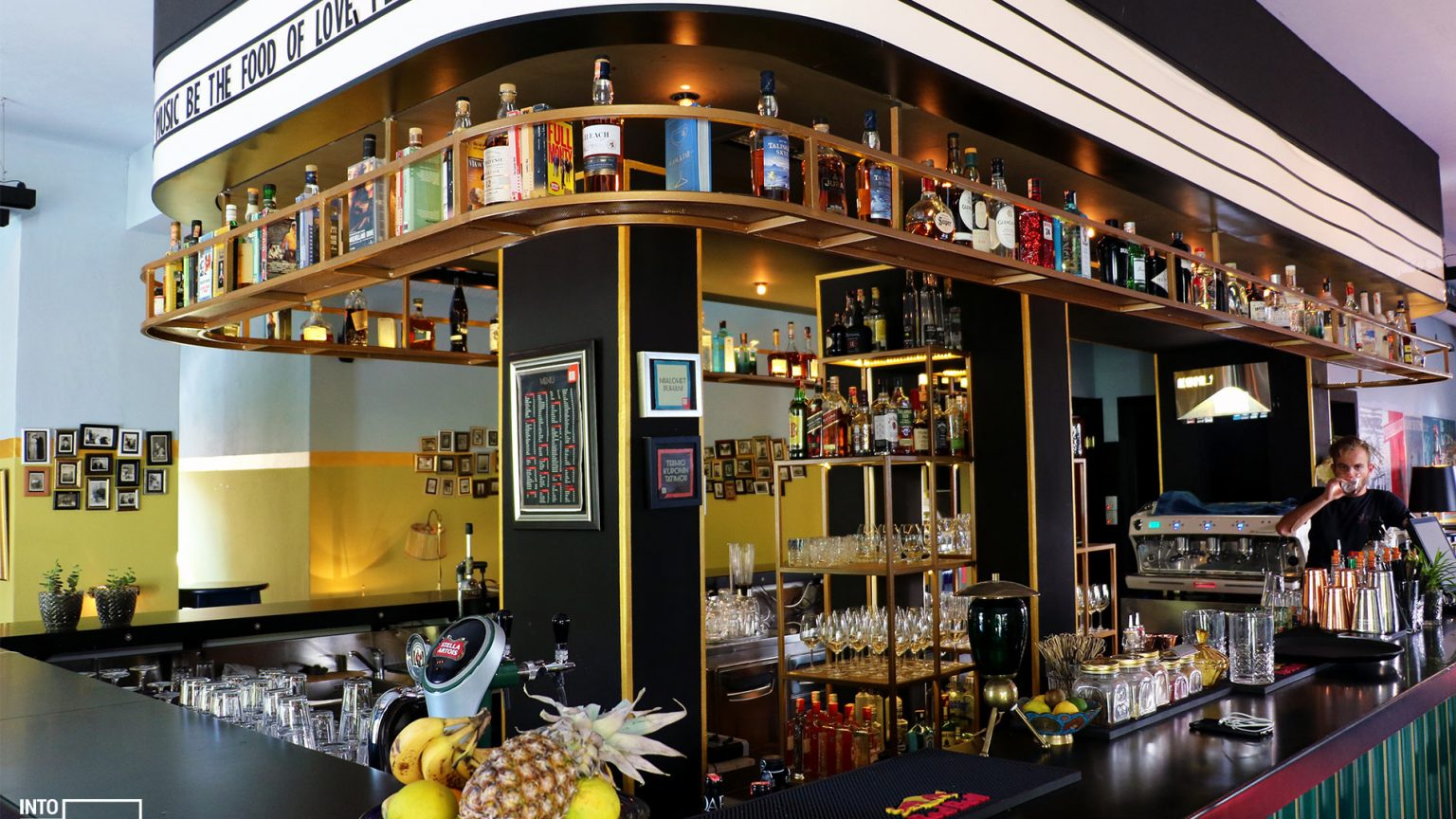 Kino bar counter, photo by IntoAlbania.