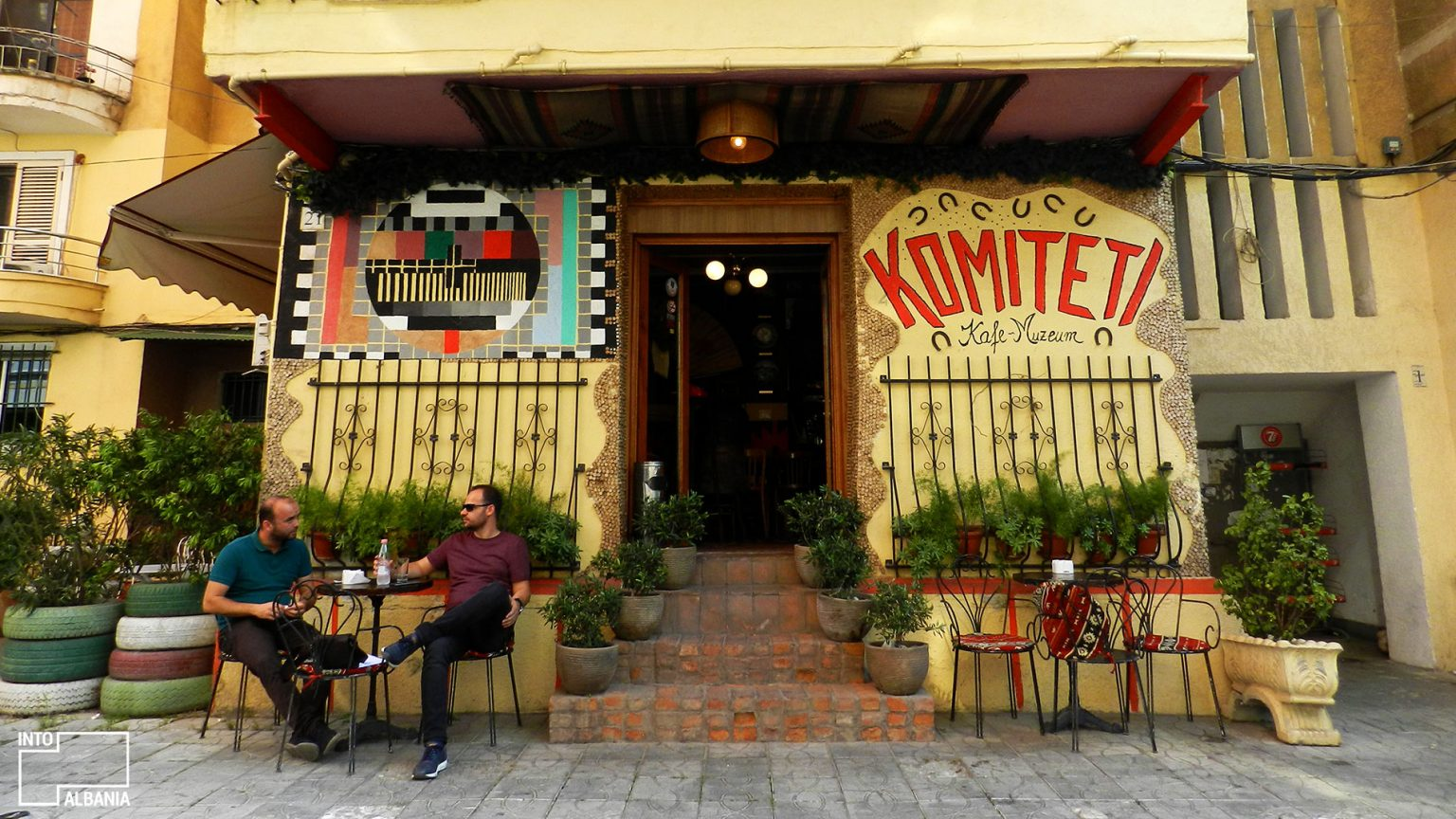 Café-Museum Komiteti, Tirana. Photo by IntoAlbania.