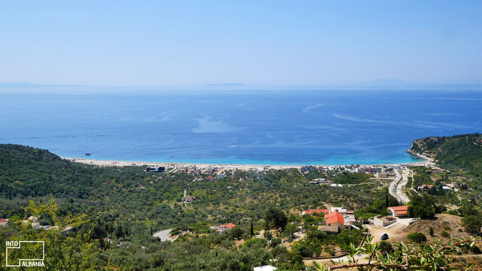 Livadh beach from above, photo by IntoAlbania