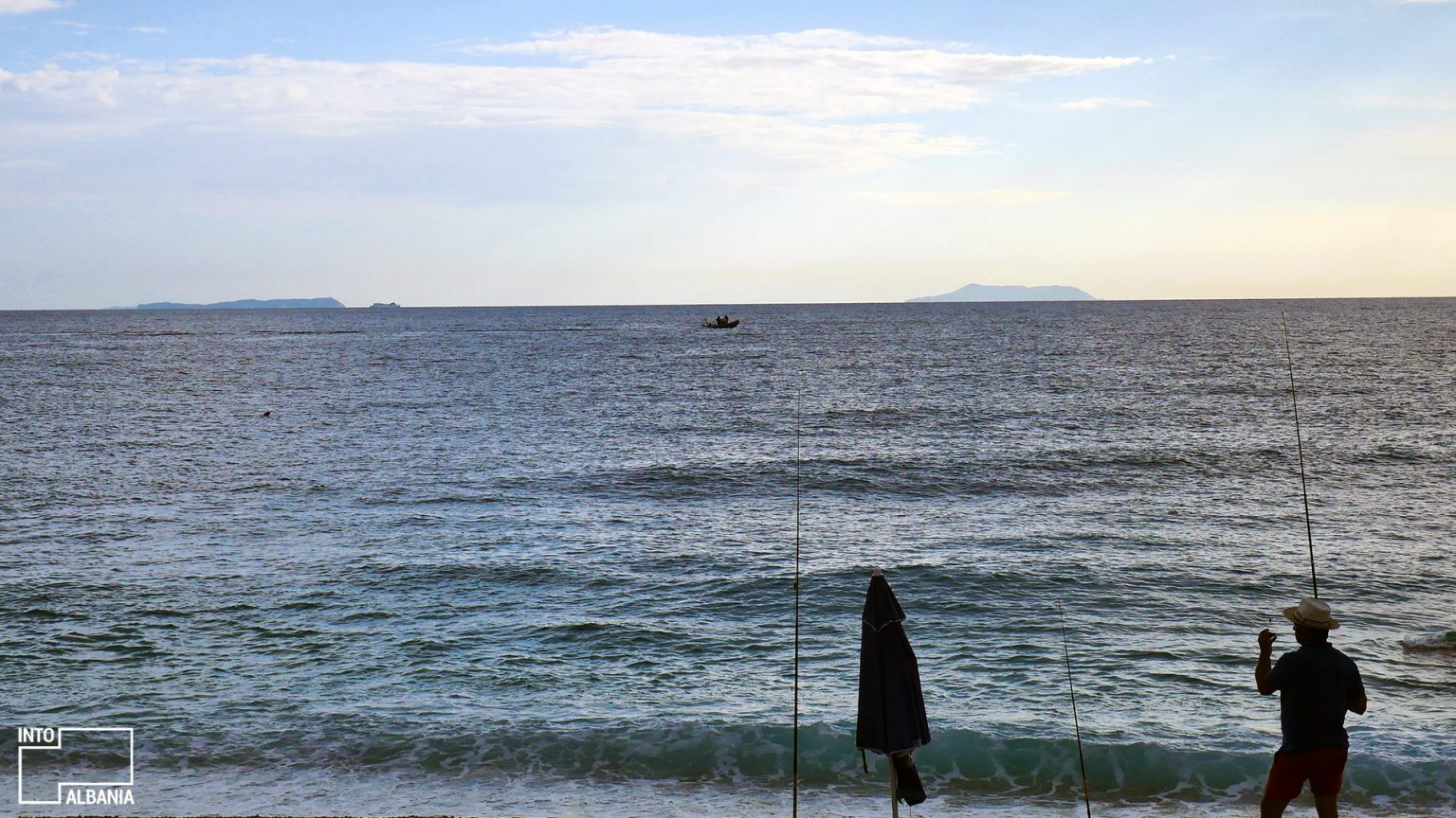 Fisherman in Livadh, photo by IntoAlbania