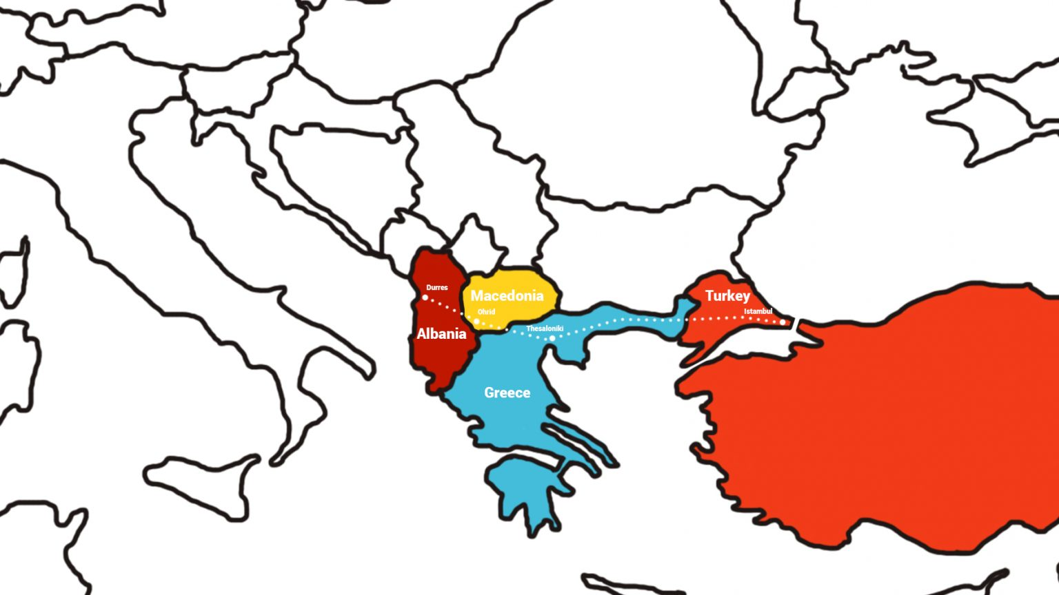 Via Egnatia map.