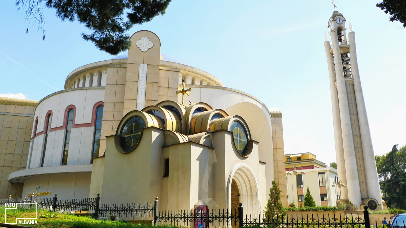 Resurrection of Christ Orthodox Cathedral architecture, photo by IntoAlbania.